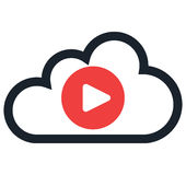 Cloud Computing and Entertainment Royalty Free Stock Photo