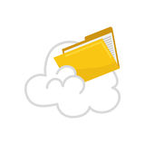 Cloud computing files. Icon  illustration graphic design Stock Images