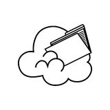 Cloud computing files. Icon  illustration graphic design Stock Photos