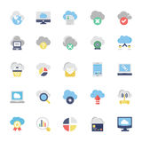 Cloud Computing Flat Colored Icons 1. Cloud Computing Vector Icons for your personal files, entertainment, work, music, movies and more. Storage is now in the Royalty Free Stock Photo