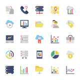 Cloud Computing Flat Colored Icons 1. Cloud Computing Vector Icons for your personal files, entertainment, work, music, movies and more. Storage is now in the Stock Image