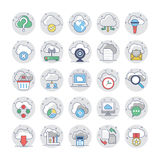 Cloud Computing Flat Colored Icons 1. Cloud Computing Vector Icons for your personal files, entertainment, work, music, movies and more. Storage is now in the Stock Photo
