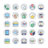 Cloud Computing Flat Colored Icons 1. Cloud Computing Vector Icons for your personal files, entertainment, work, music, movies and more. Storage is now in the Royalty Free Stock Photos