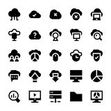 Cloud Computing Flat Colored Icons 1 Royalty Free Stock Image