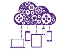 Cloud Computing Flat Concept Stock Image