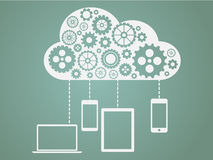 Cloud Computing Flat Concept Stock Photos