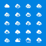 Cloud computing flat icons Stock Photo