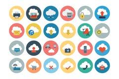 Cloud Computing Flat Vector Icons 1 Stock Image