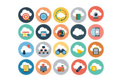 Cloud Computing Flat Vector Icons 4. Here is Cloud Computing  icons set for your personal files, entertainment, work, music, movies and more. Storage is now in Royalty Free Stock Photography