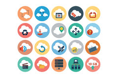 Cloud Computing Flat Vector Icons 3 Royalty Free Stock Photos