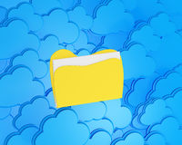 Cloud computing with folder Stock Photography