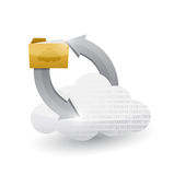 Cloud computing and folder illustration design Stock Photography