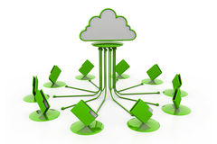 Cloud computing.(folder network) Stock Images