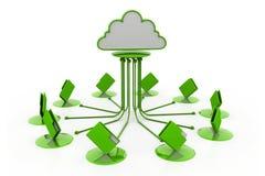 Cloud computing.(folder network) Stock Images