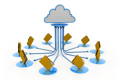 Cloud computing.(folder network) Stock Photo