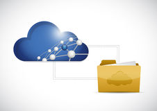 cloud computing folder network illustration Royalty Free Stock Photos