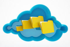 Cloud computing and folders Royalty Free Stock Photography