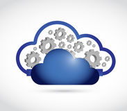 cloud computing gear connection illustration Royalty Free Stock Photo
