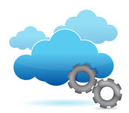 Cloud computing and gear illustration design Royalty Free Stock Photo