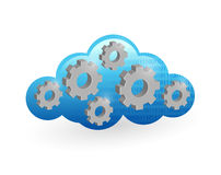 Cloud computing and gear illustration design Royalty Free Stock Images