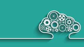 Cloud computing gears Royalty Free Stock Images