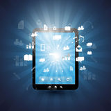 Cloud Computing and Global Networks Illustration Royalty Free Stock Photo