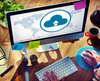 Cloud Computing Globalization Connection Technology Concept Stock Image