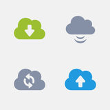 Cloud Computing - Granite Icons. A set of 4 professional, pixel-perfect icons designed on a 32x32 pixel grid Stock Photography