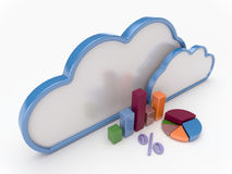 Cloud Computing With Graph and Charts Royalty Free Stock Photos