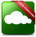 Cloud computing green square button Royalty Free Stock Photo