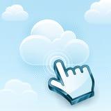 Cloud Computing Hand Cursor Royalty Free Stock Photo