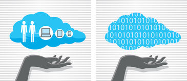 Cloud computing and hand Stock Images