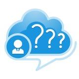 Cloud, computing, help service illustration. Stock Photo