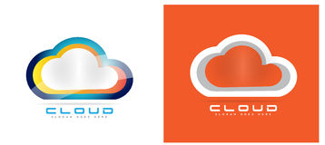 Cloud computing hosting logo Stock Photo