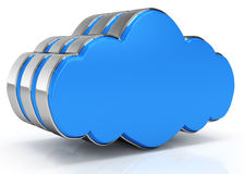Cloud computing icon. On white background. 3d rendered image Stock Photos