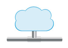Cloud computing icon Stock Photo