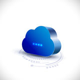 Cloud computing icon for communication and technology Royalty Free Stock Image