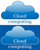 Cloud Computing Icon or Logo. On white and blue background. Eps file available Stock Photography