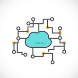 Cloud computing icon network concept, vector & illustration Royalty Free Stock Images