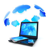 Cloud computing icon Stock Images