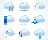 Cloud computing icon set Stock Image
