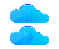 Cloud computing icon set Royalty Free Stock Photography