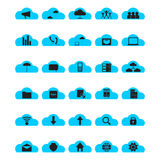 Cloud computing icon set Royalty Free Stock Image