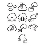 Cloud computing icon set Stock Images