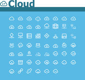 Cloud computing icon set. Set of the simple cloud computing related icons Stock Photos