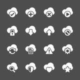 Cloud computing icon set, vector eps10 Stock Image