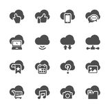 Cloud computing icon set, vector eps10 Stock Images