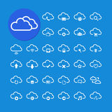 Cloud computing icon set, vector eps10. Cloud computing icon set, each icon is a single object (compound path), vector eps10 Stock Images