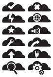 Cloud Computing Icon Set Vector Illustration Stock Photo