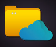 Cloud computing icon.Technology design. Vector graphic Stock Image
